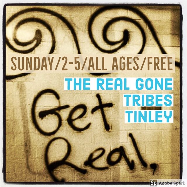 #livemusic #therealgone #surfrock #getreal @tribesbeerco