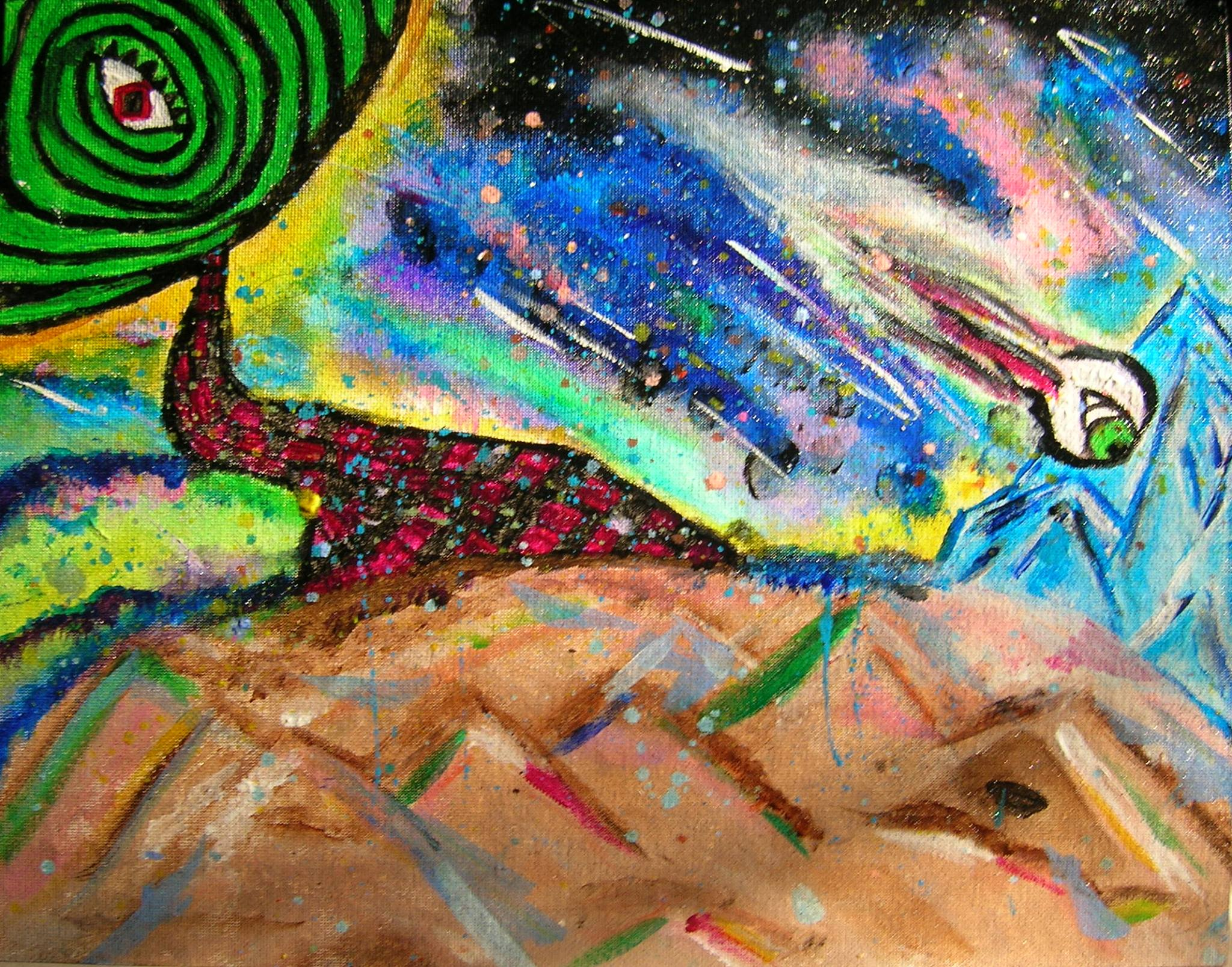 Peaking into Other Worldly Cosmos (ORIGINAL SOLD)