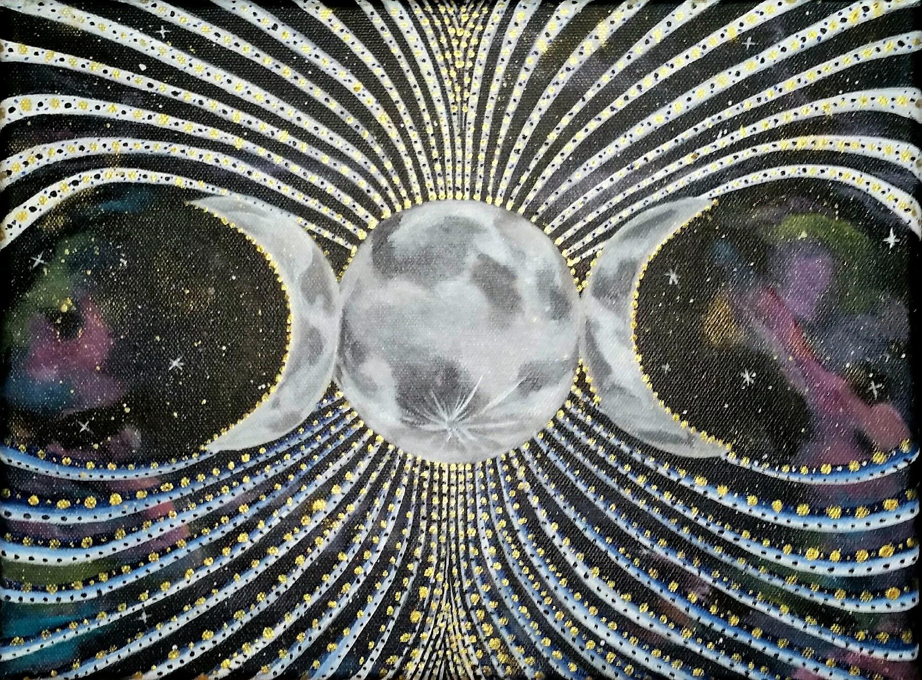 'Luminous Luna' Acrylic on Canvas