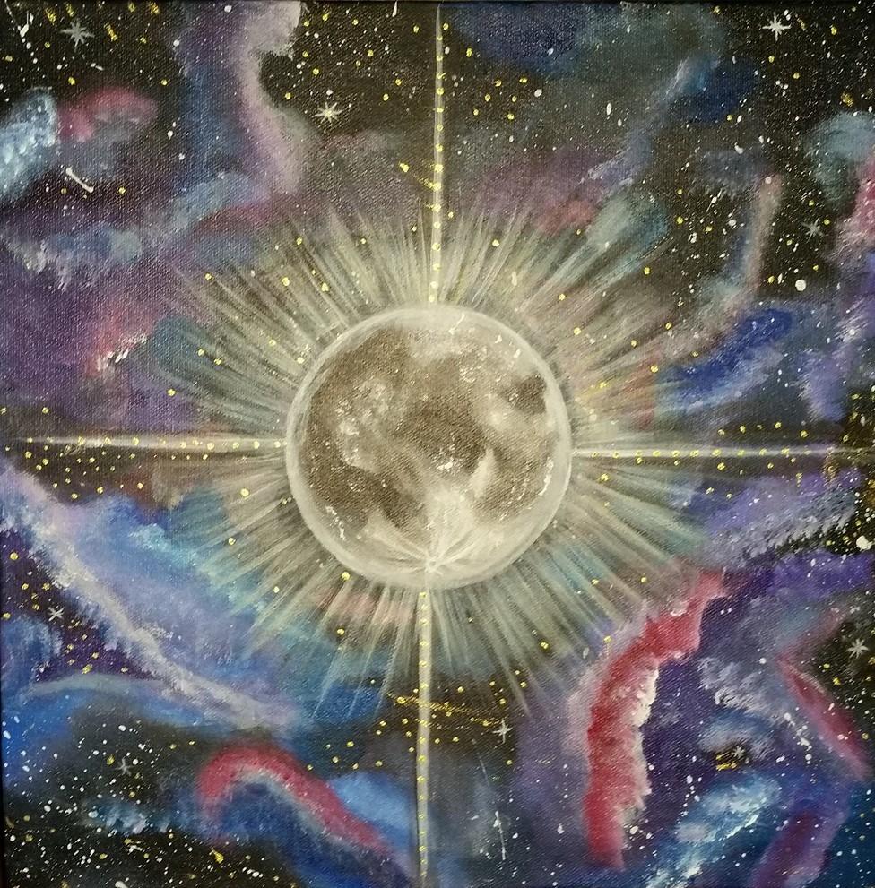 """""""Celestial Shine"""" Acrylic on Canvas"""