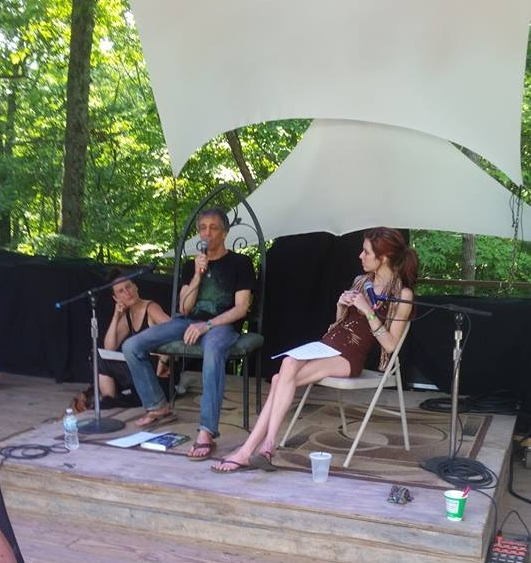 """David and I co-leading a """"Lucid Dreaming"""" workshop together at the 2018 Starwood Festival."""