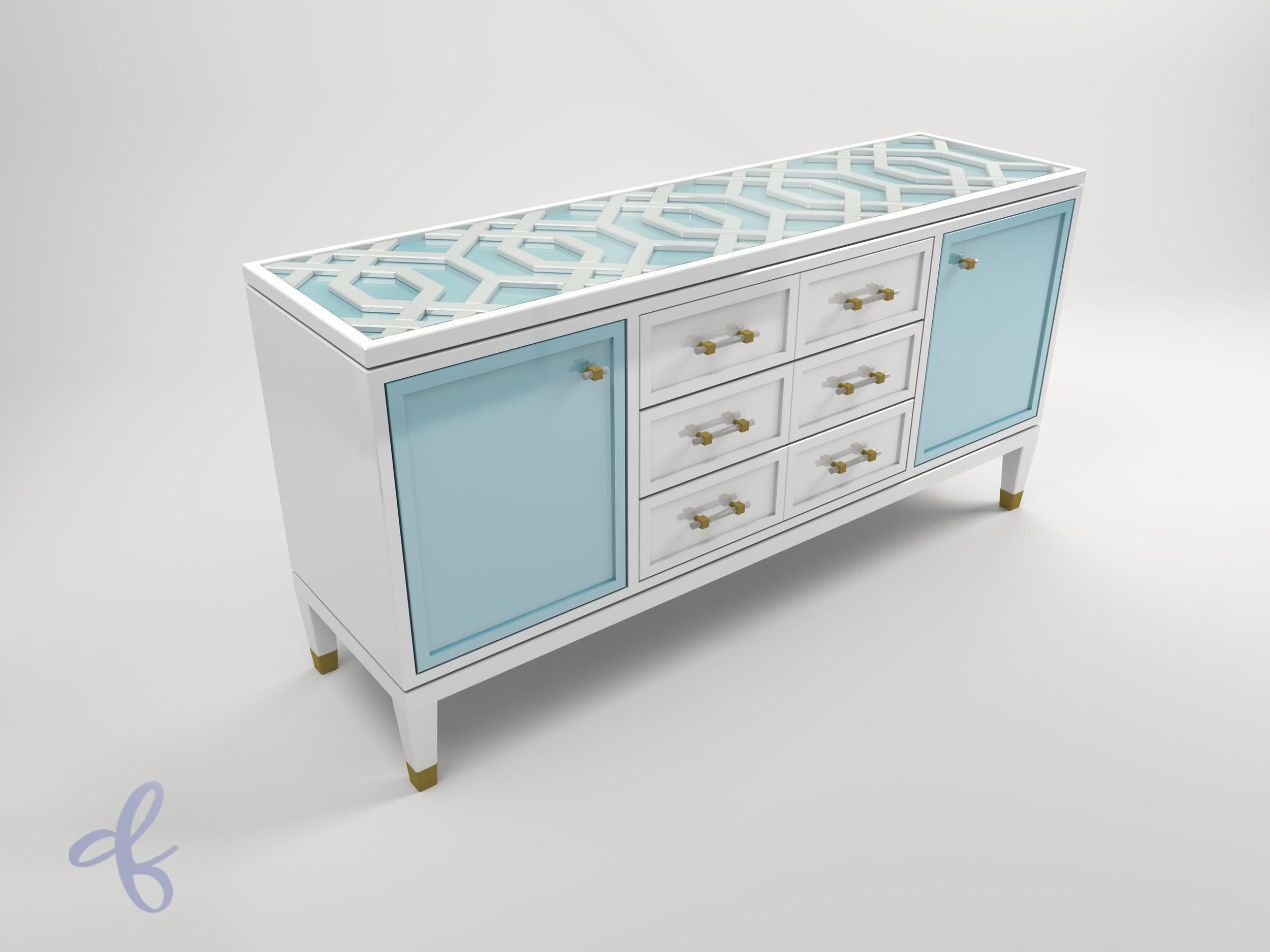 Trellis dresser