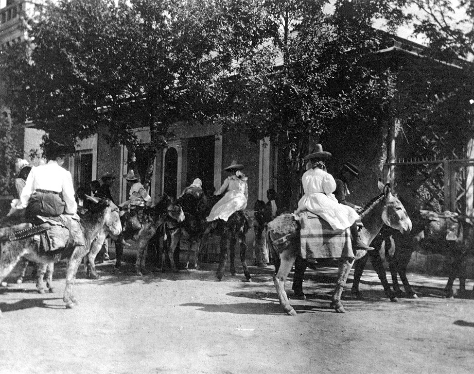 """James and Gertrude Eaton hosted a """"burro party"""" for their daughter, Dorothy, at their home in Chihuahua City, Chihuahua. Source: Private Collection of Susan Martine."""