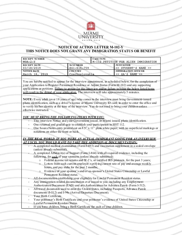 Form M-102 Approval (front)