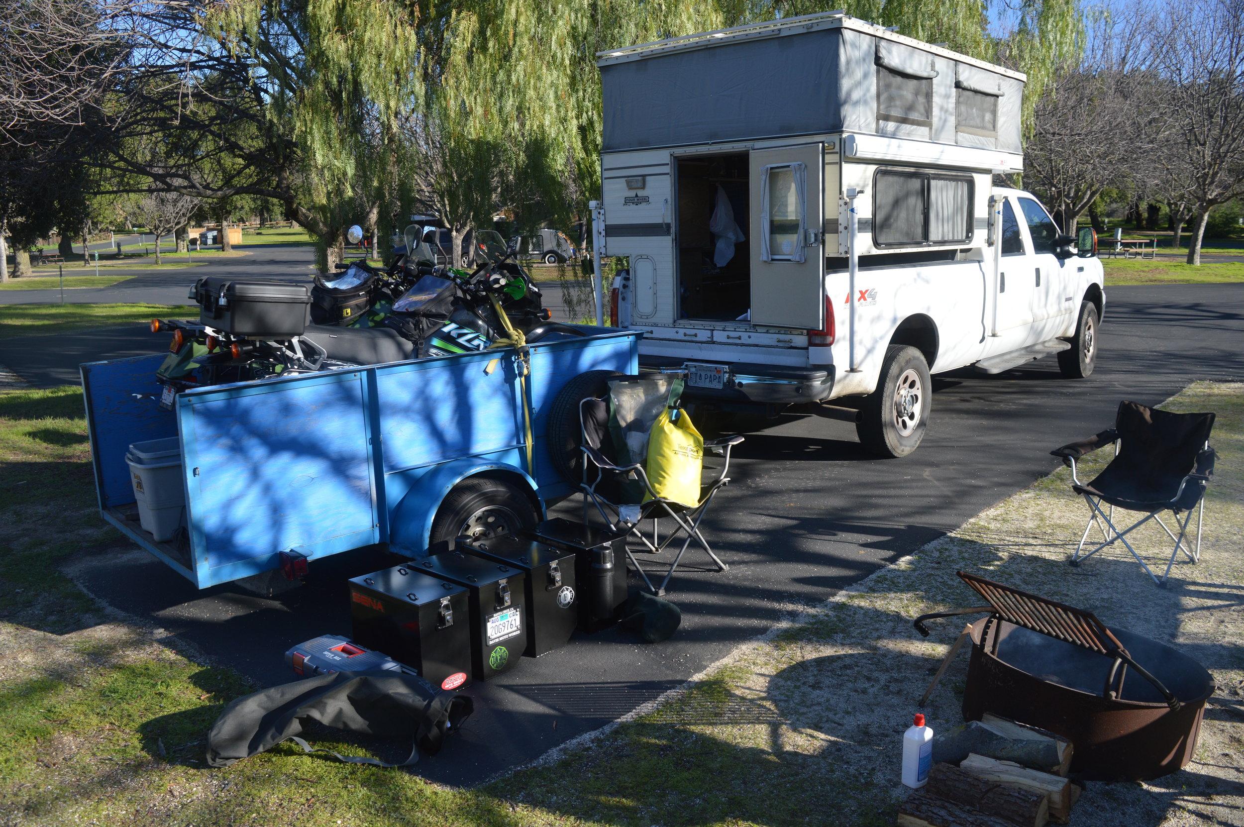Camp at Potrero County Park (San Diego County)