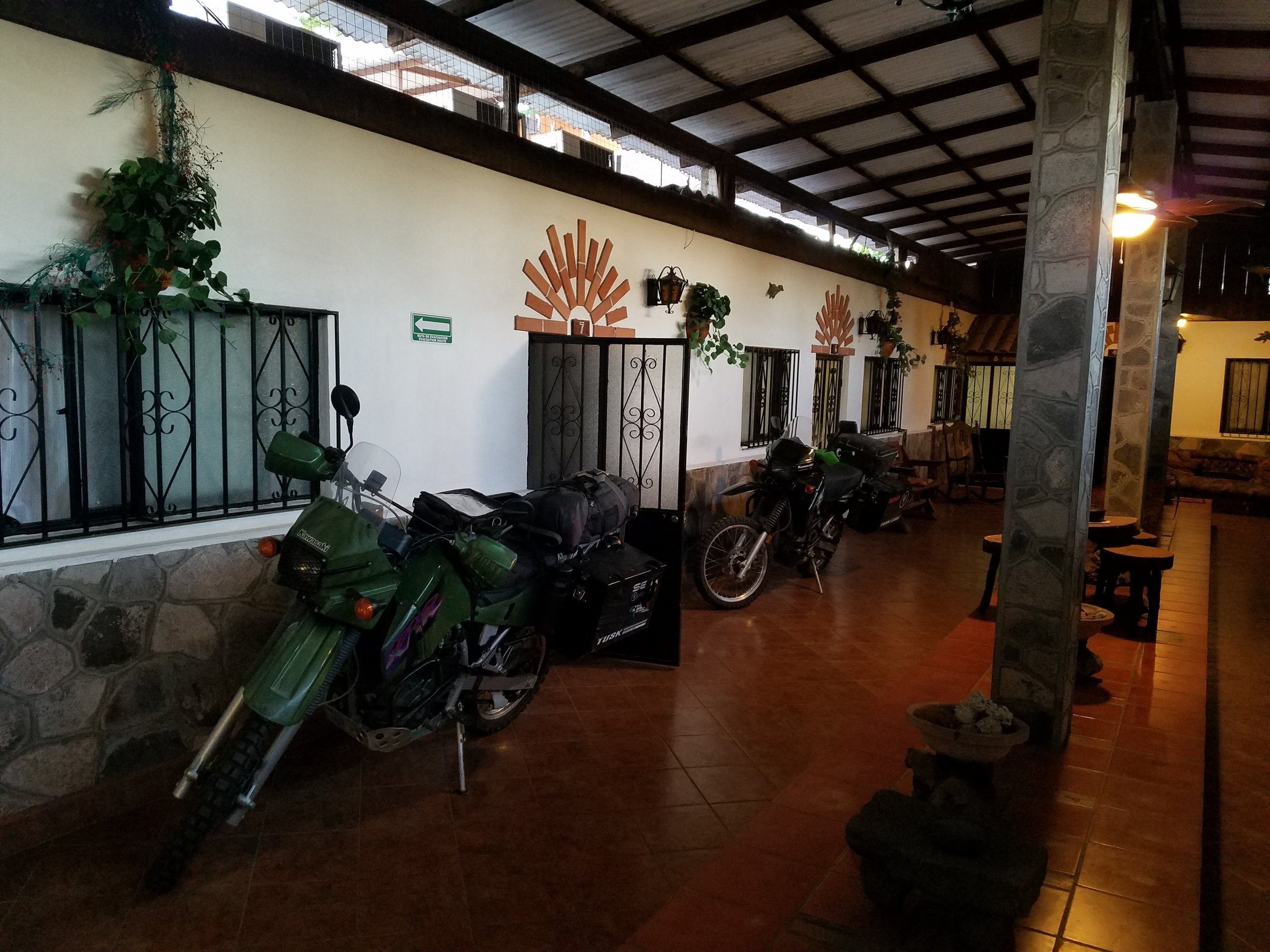 Bikes inside Casas Loreto hostel. Thank you, Abel!
