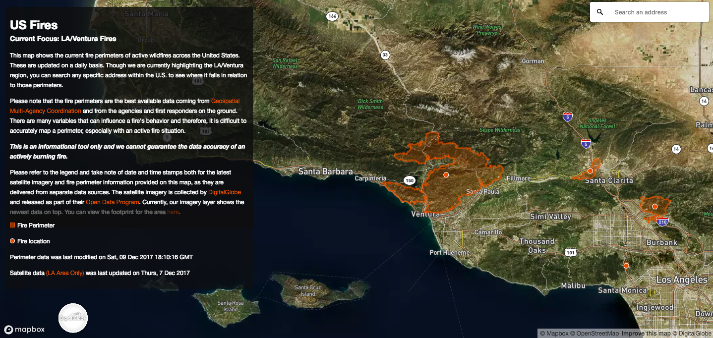 Open data for Thomas and Ventura fires  Sharing imagery to track and respond to fires