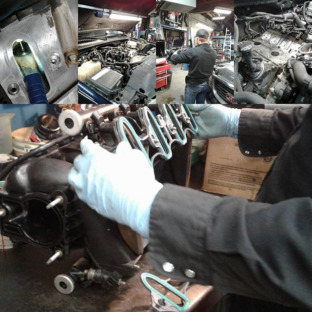 2004 GMC with a 5.3L gets new intake gaskets. Note how clean the intake valve is, this client is a regular BG44K fuel system cleaner user, #bg44k #intake  #repair shop