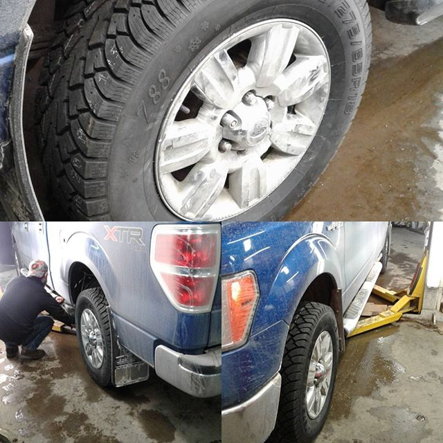 2010 Ford F150 gets new winter shoes #tires #truck #shop
