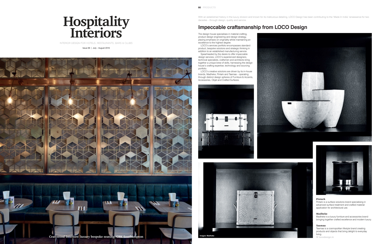 Hospitality Interiors, July-August 2016