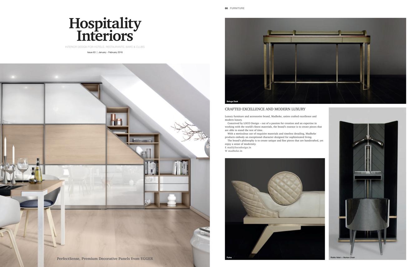 Hospitality Interiors, January-February 2016