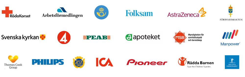 Kunder som har valt Essinge Konferenscenter genom åren.