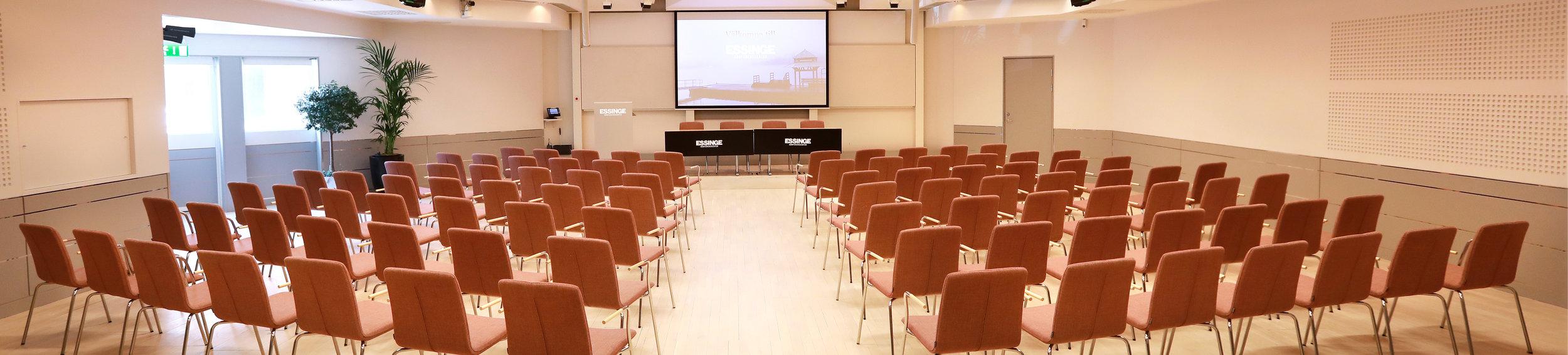 Alviksalen, ett större konferensrum på Essinge Konferenscenter i Stockholm