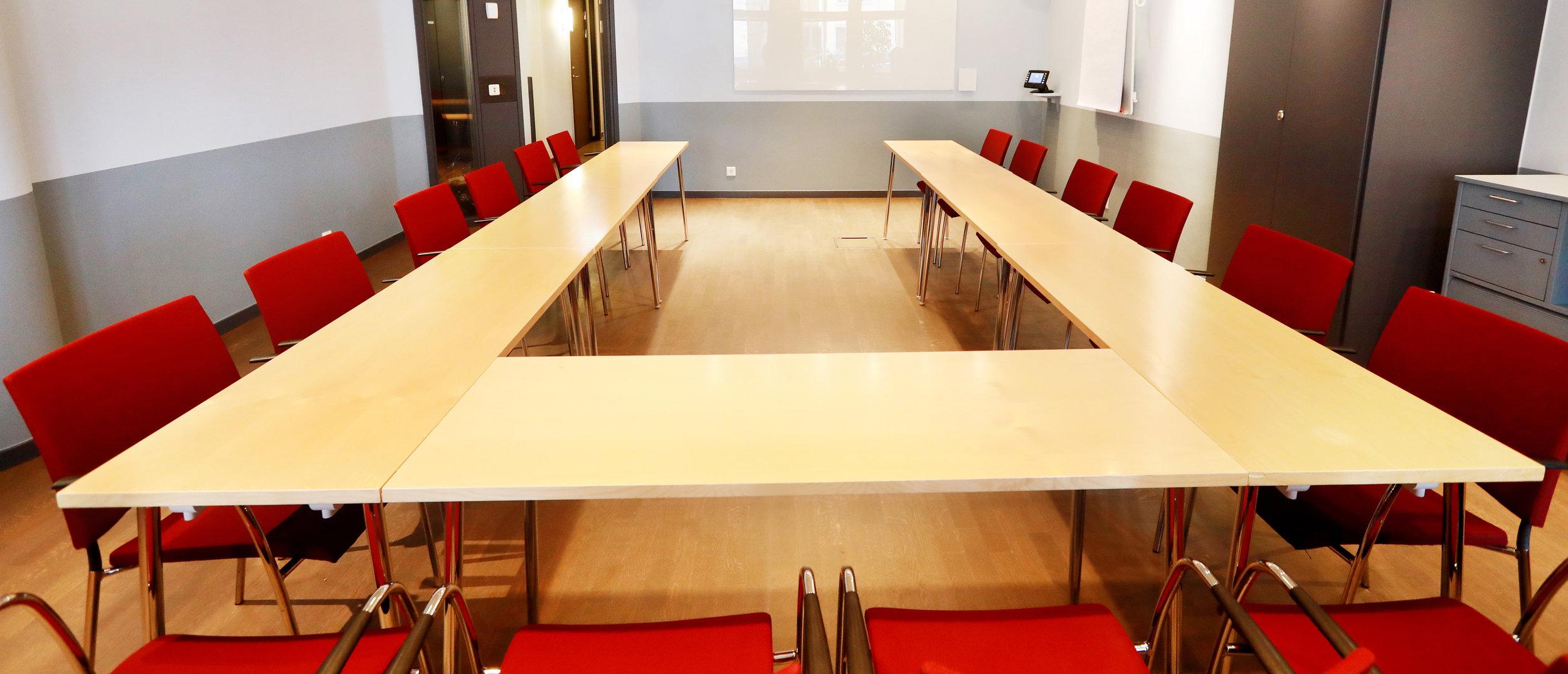 Adelsö, ett mindre konferensrum på Essinge Konferenscenter i Stockholm