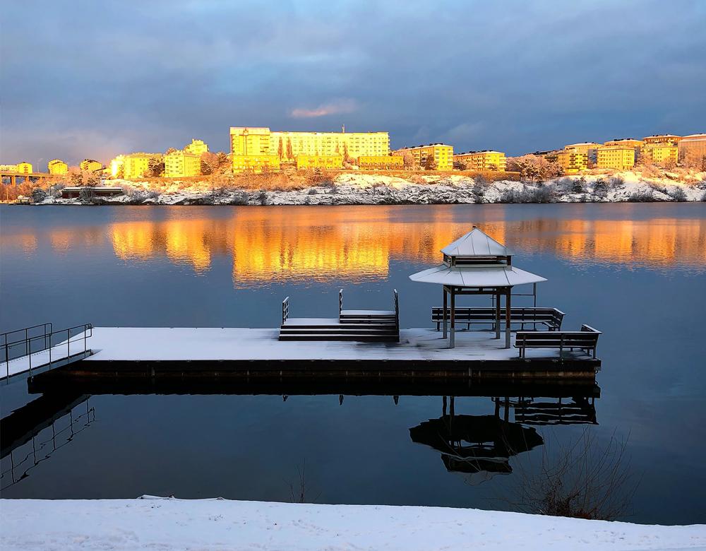 Utsikten på Essinge Konferenscenter i Stockholm.