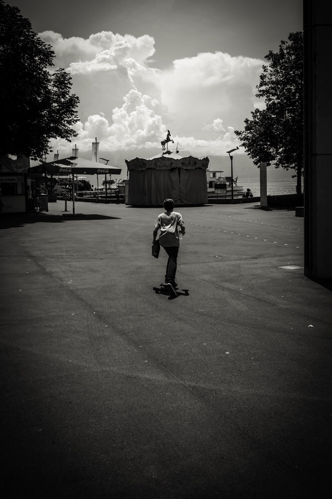 Young skater, Ouchy, Lausanne, spring 2015