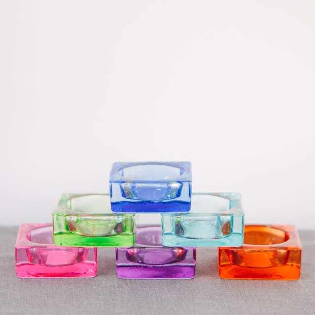T-LIGHT HOLDERS - ASSORTED COLOURS - mini