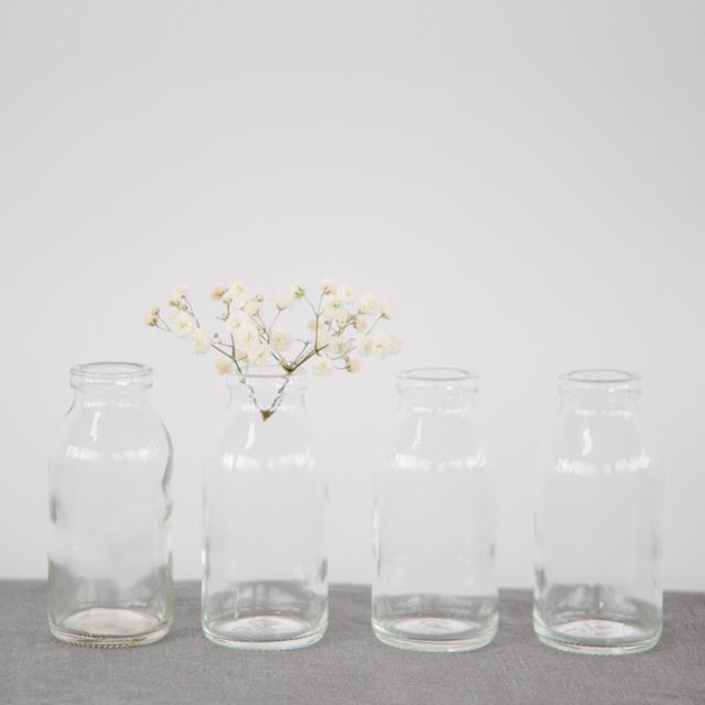 GLASS BOTTLES - MILK BOTTLES -  mini