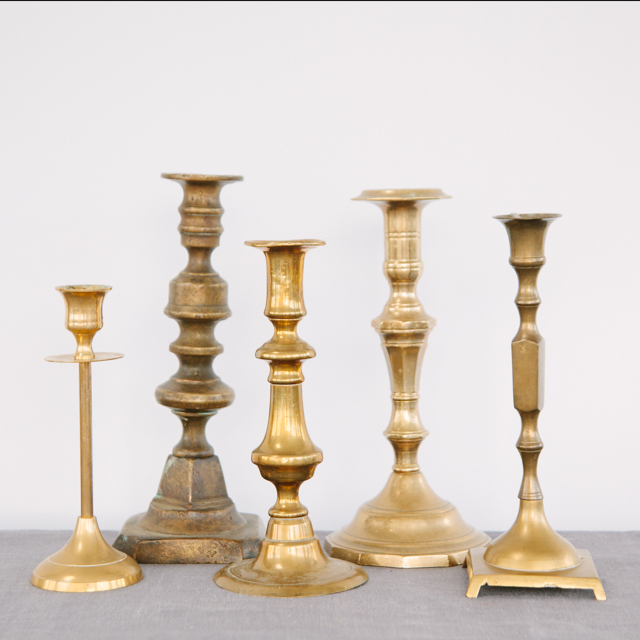 CANDLESTICKS - BRASS - large & x-large