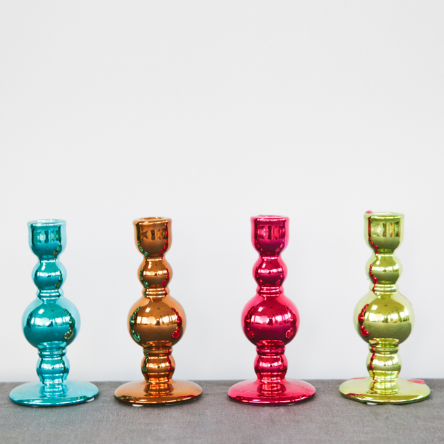 CANDLESTICKS - ASSORTED COLOURS - small