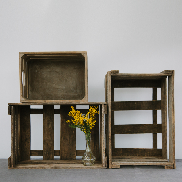BOXES - WOODEN CRATES - large & x-large