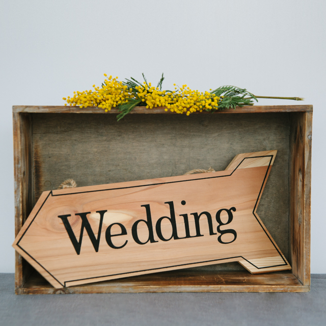 SIGNS - WEDDING WOODEN