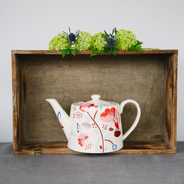 TEAPOTS & COFFEE POTS - RED FLOWER TEAPOT - large