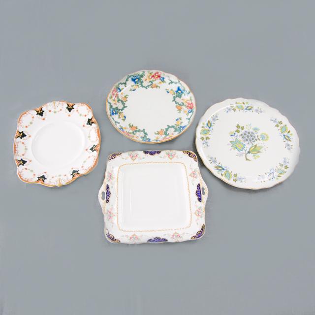 CAKE PLATES & BOWLS - VINTAGE MIX ASSORTED CAKE PLATES - medium & large