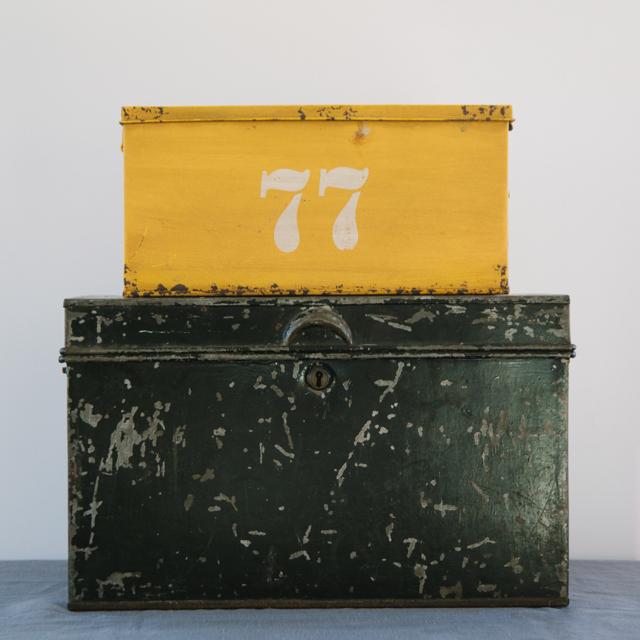 BOXES - METAL - BLACK & YELLOW - medium & large