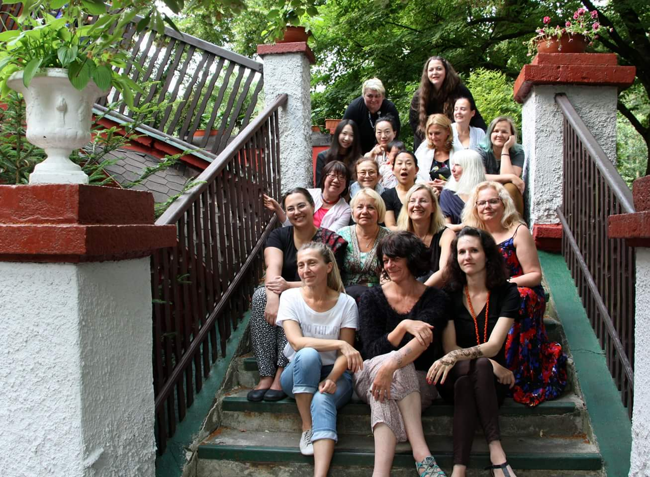 The wonderful women artists from around the globe that participated in the 2018 symposium