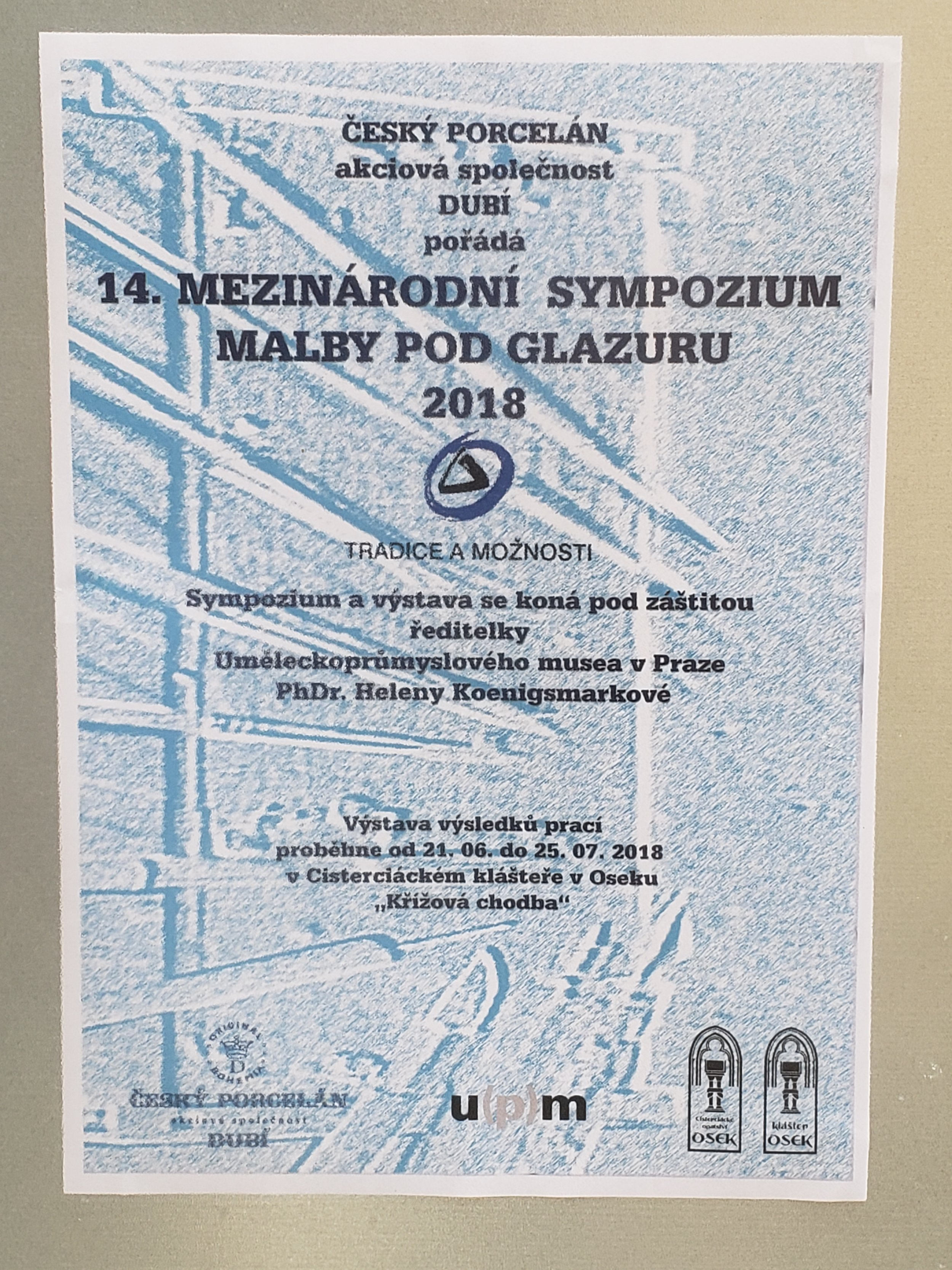 Sympoisum Exhibition Poster, Cloister of Osek Monastery, CZ. 6/20-7/25, 2018
