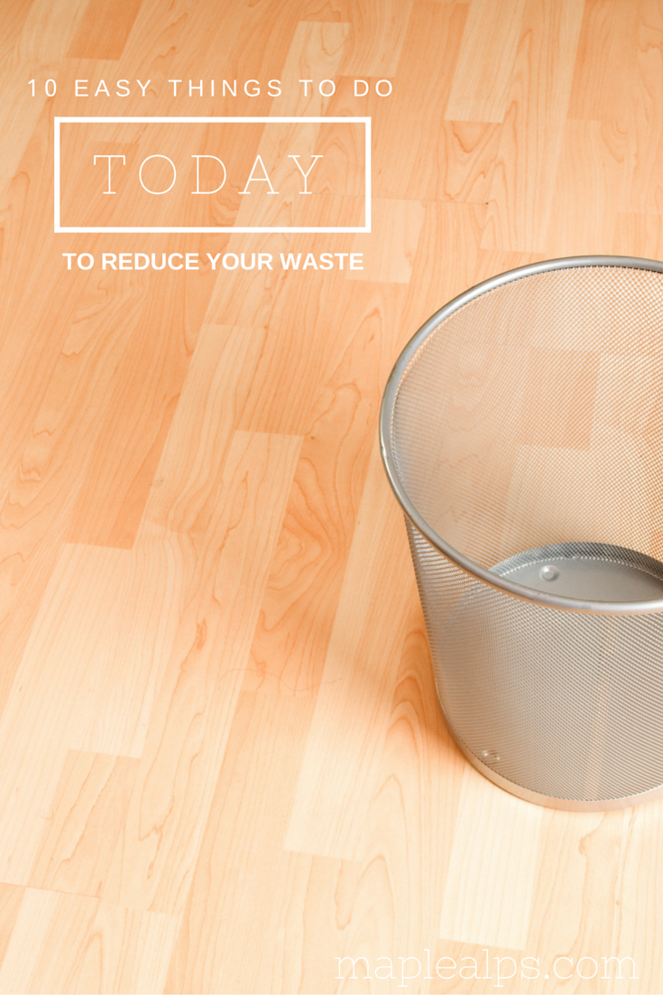 10 Easy Things To Do Today To Reduce Your Waste | www.maplealps.com