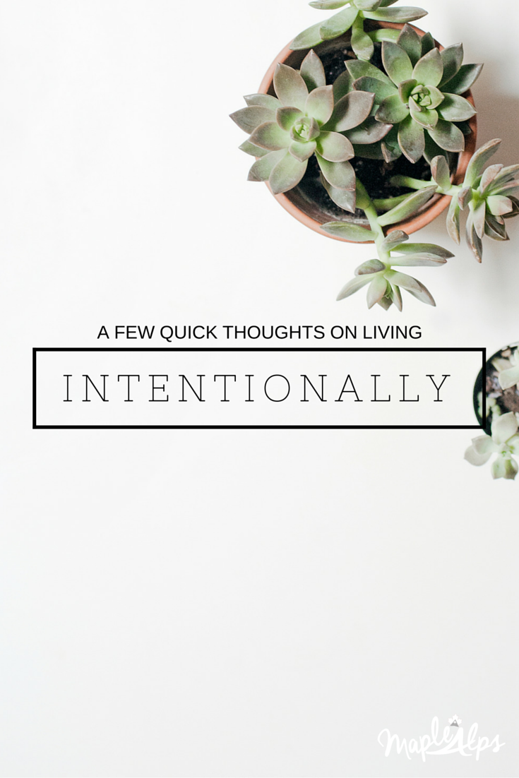 Some thoughts on intentionality.