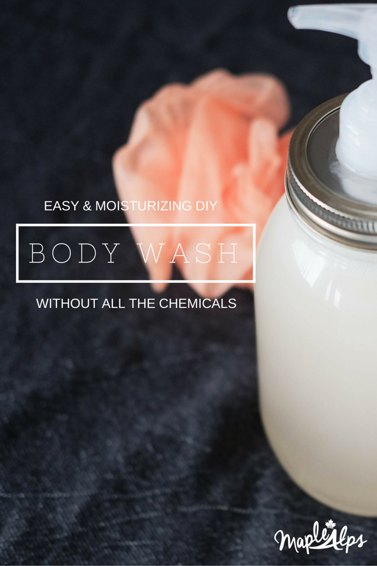 Easy and Moisturizing DIY Body Wash! Super easy and no chemicals added!