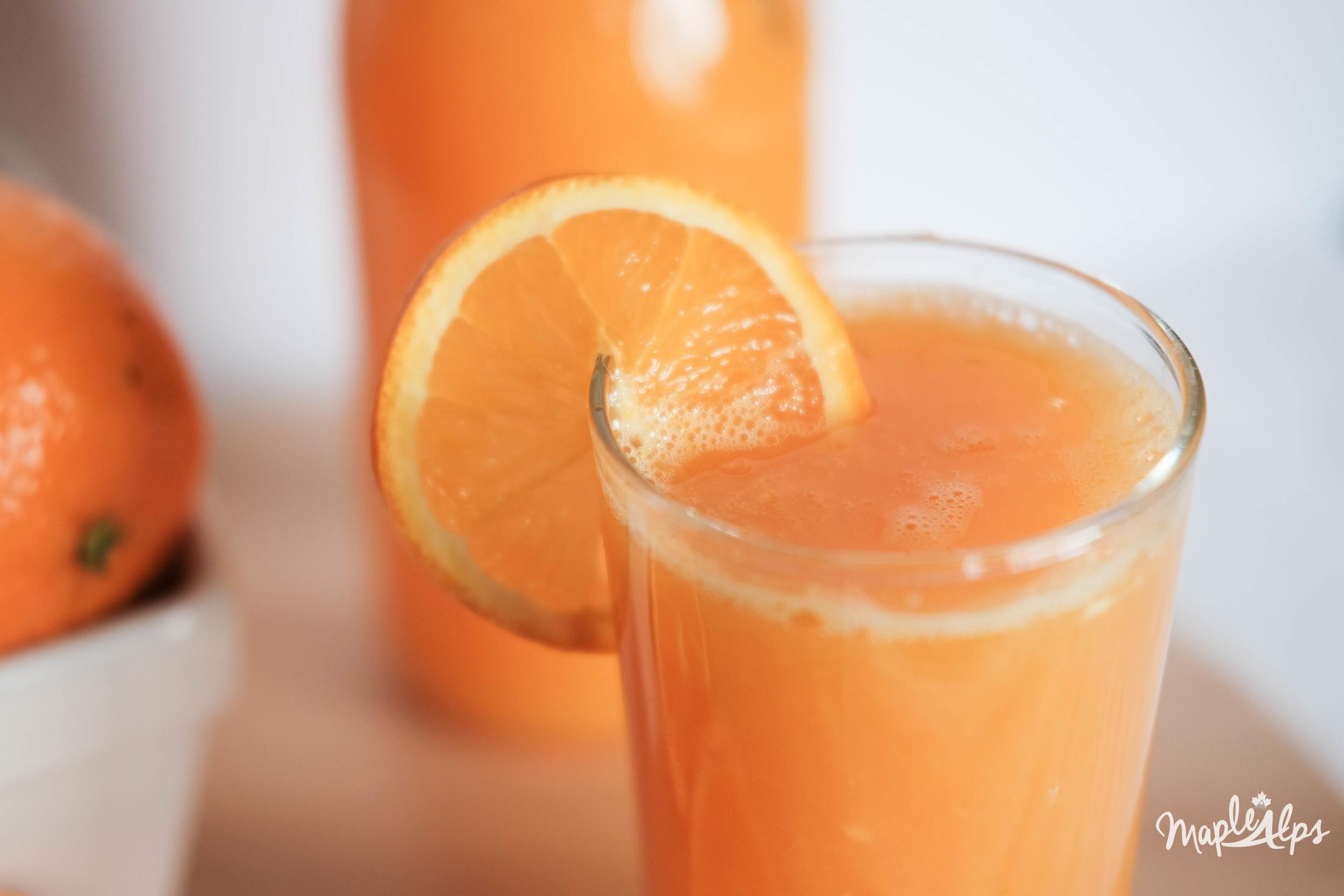 Intentional Eating Fresh Orange Juice Maple Alps