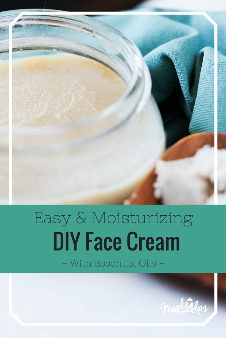 Easy and Moisturizing DIY Face Cream. So easy and with essential oils!