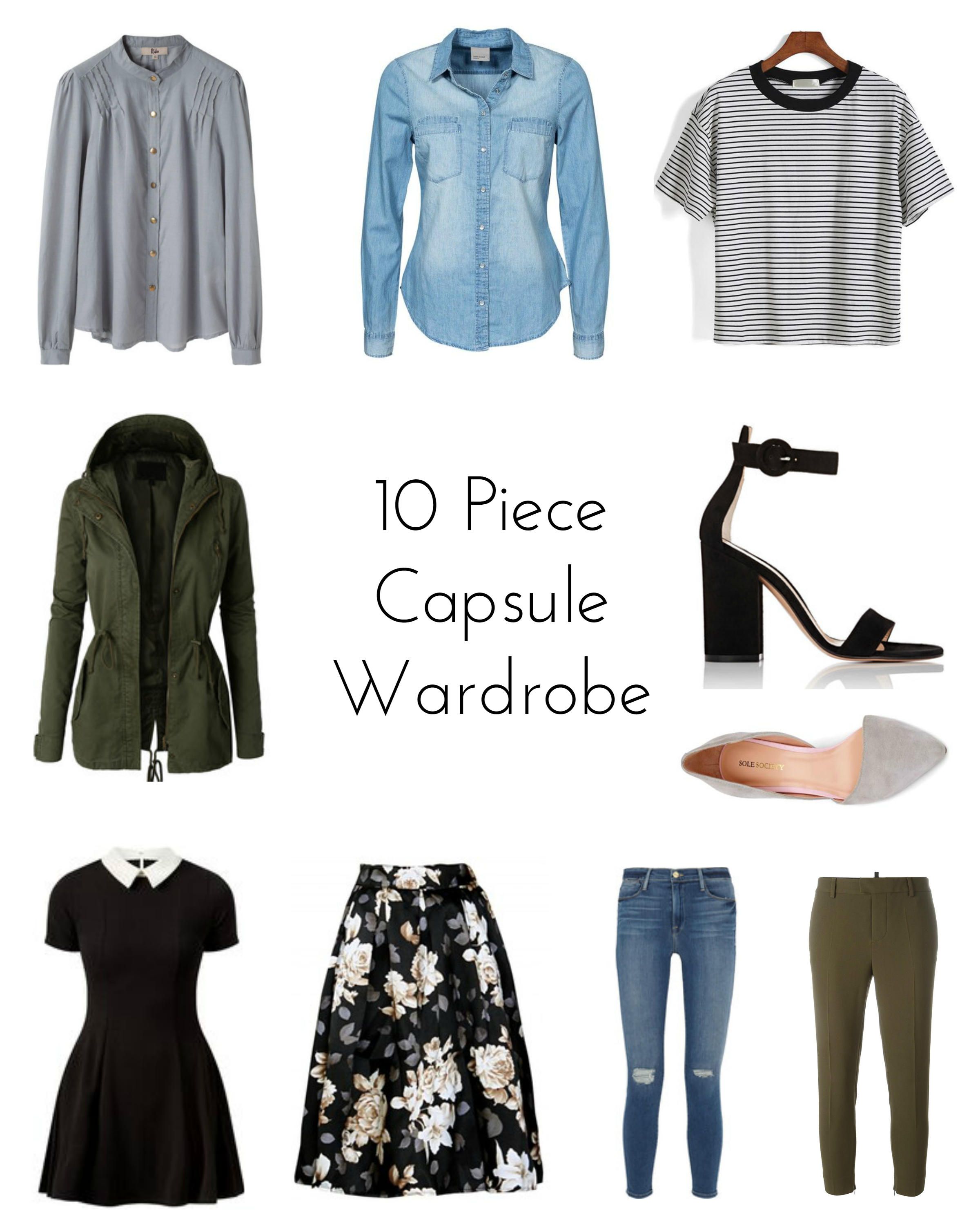 ten piece capsule wardrobe