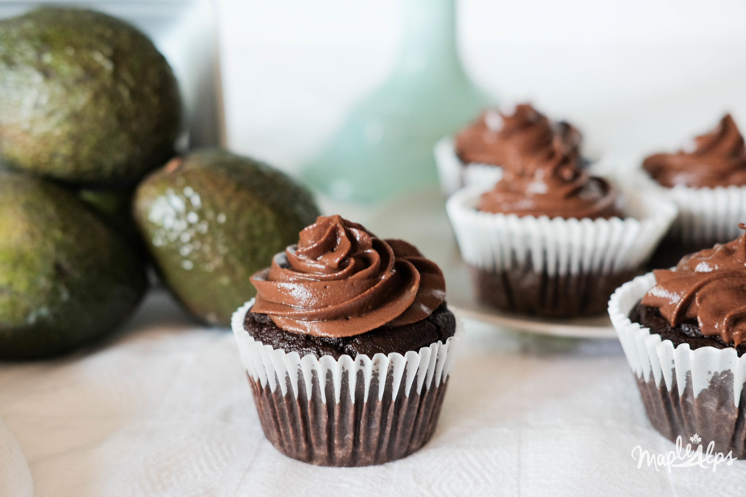 Chocolate Beet Cupcakes with Avocado Frosting (vegan and gluten free) | www.maplealps.com