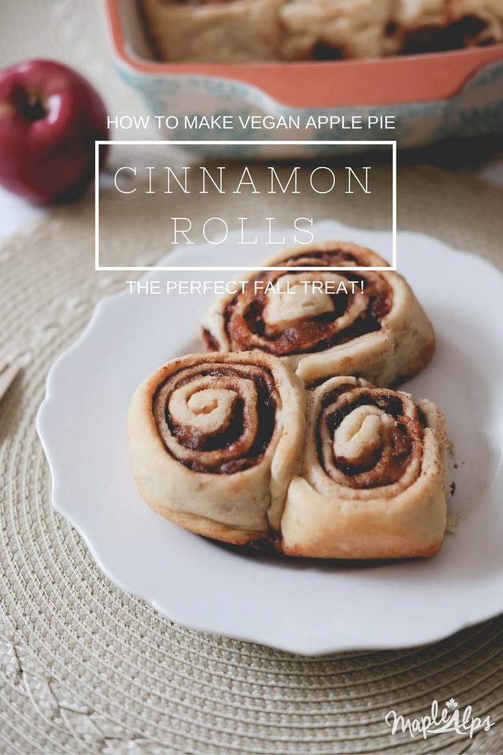 Vegan Apple Pie Cinnamon Rolls: An Apple Challenge | www.maplealps.com