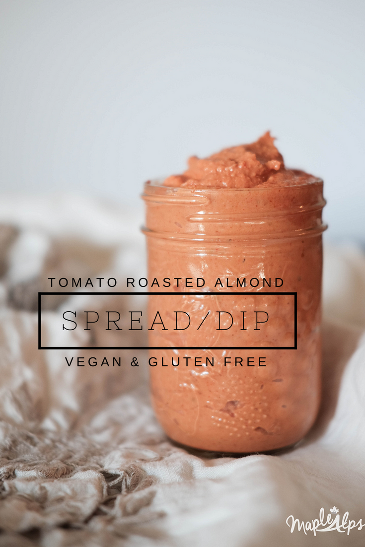 Tomato Roasted Almond Spread (vegan gluten free) | www.maplealps.com