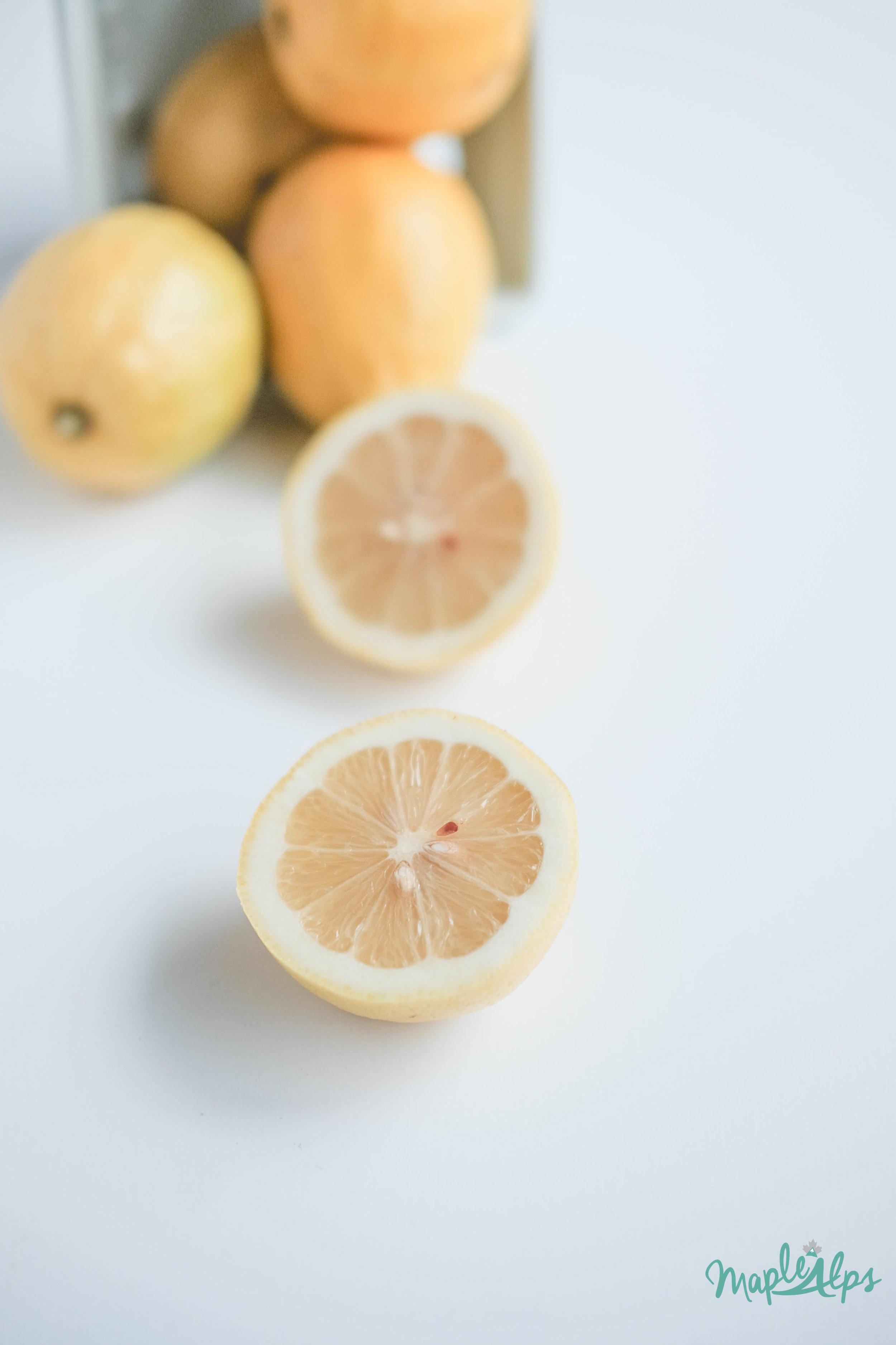 lemon vinegar all purpose cleaner | www.maplealps.com