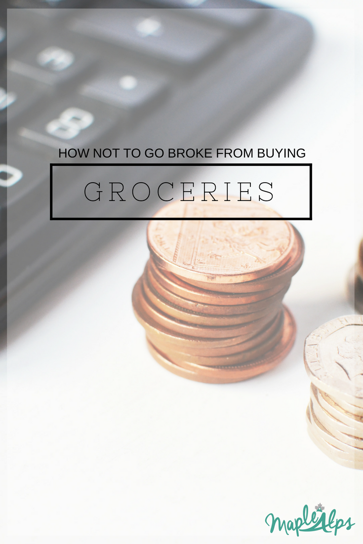 How Not To Go Broke From Buying Groceries | www.maplealps.com