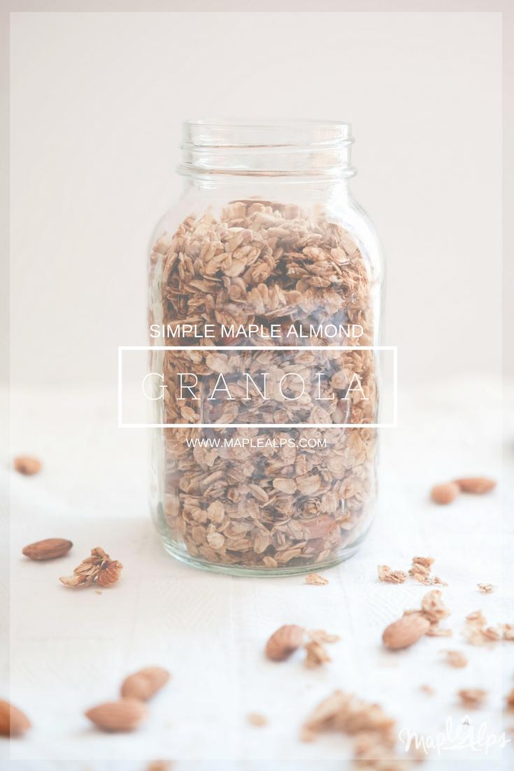 Simple Maple Almond Granola | www.maplealps.com