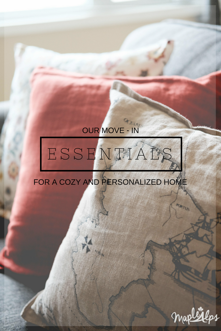 move in essentials for a cozy and personal home | www.maplealps.com