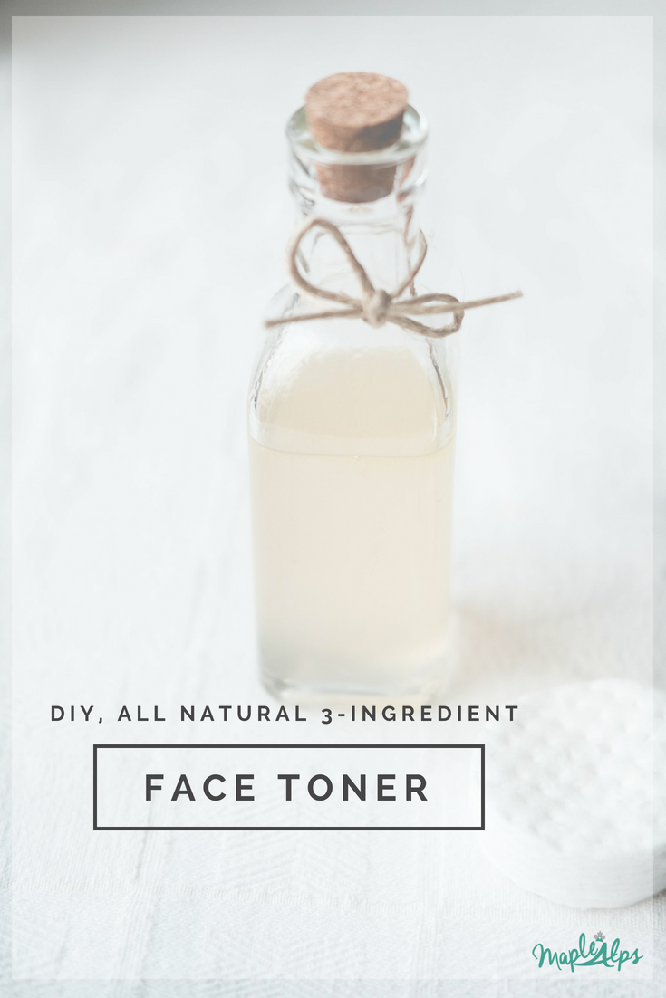 Easy, all natural, 3-ingredient DIY face toner. Love this stuff! | www.maplealps.com