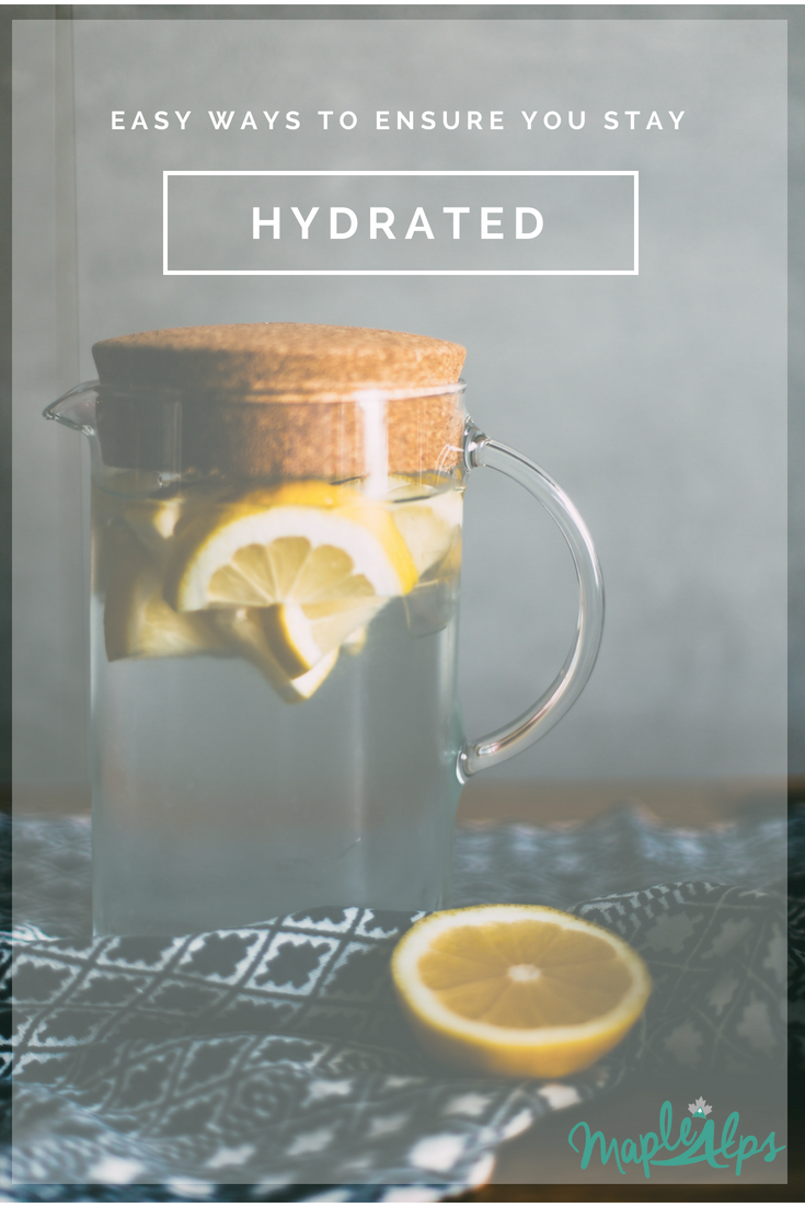 Easy Ways to Stay Hydrated | www.maplealps.com