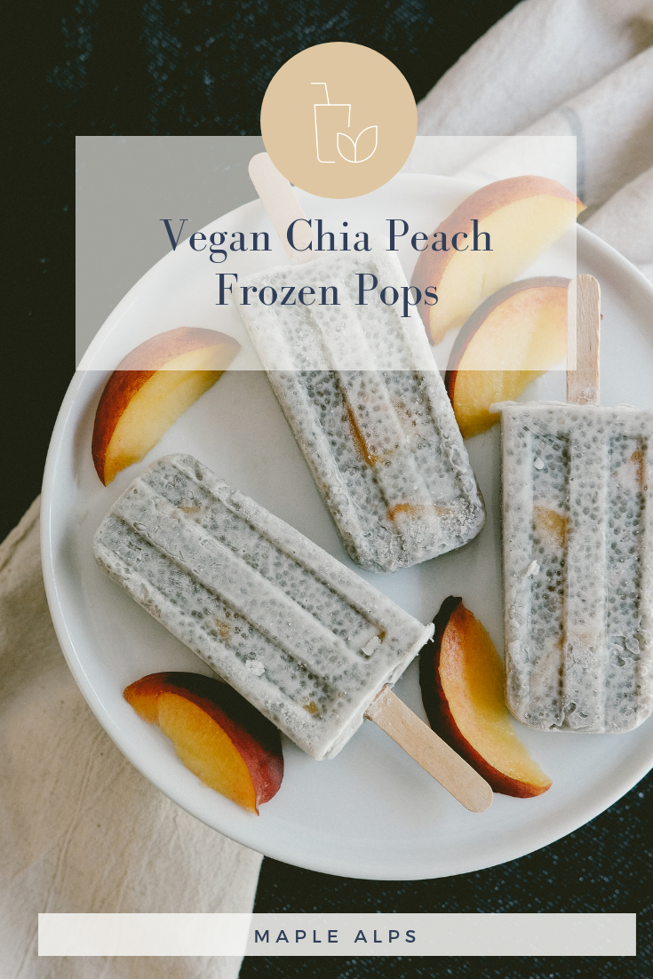 Chia Peach Frozen Pops (vegan) | www.maplealps.com
