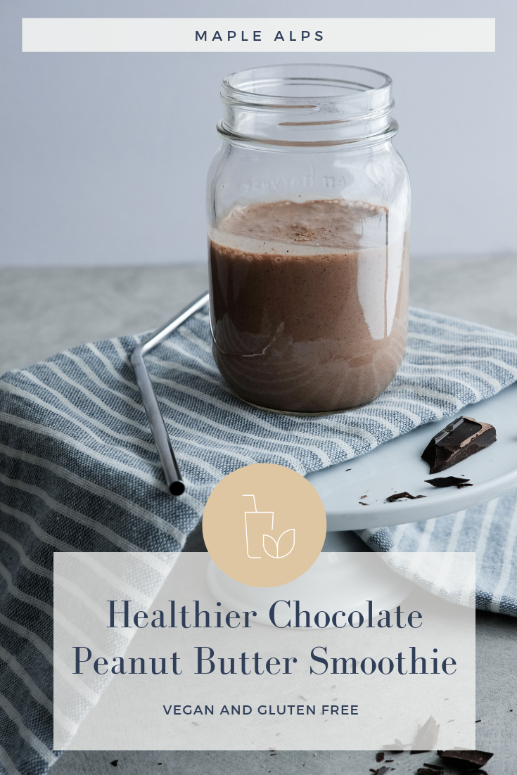 Healthier Chocolate Peanut Butter Smoothie | www.maplealps.com