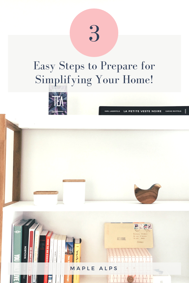 Preparing to Declutter | www.maplealps.com