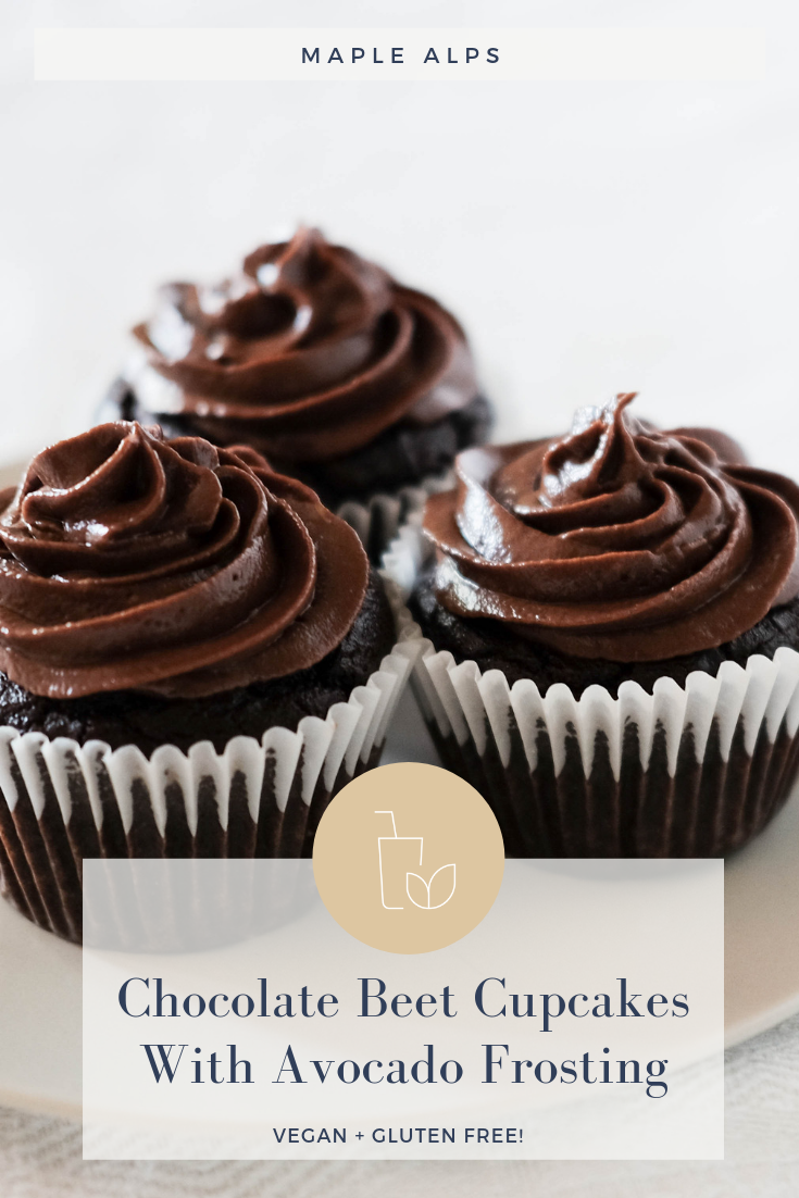 Chocolate Beet Cupcakes With Avocado Frosting | www.maplealps.com